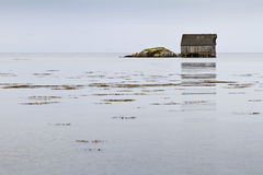 Brown House at the Sea Royalty Free Stock Images