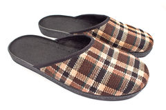 Brown house slippers Royalty Free Stock Photos
