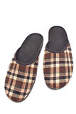Brown house slippers Royalty Free Stock Photo