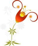Brown i Żółty kwiat Obraz Royalty Free