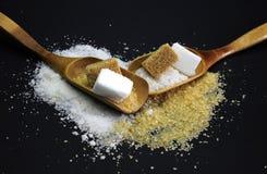 Brown 2017 i biały cukier Zdjęcie Stock