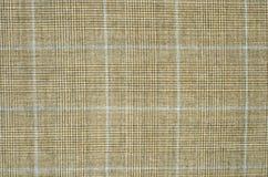 Brown i pomarańcze guncheck wzór na tkaninie Zdjęcie Royalty Free