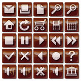 Brown Icons 1-25 Stock Photography