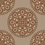 Brown indian pattern Royalty Free Stock Image