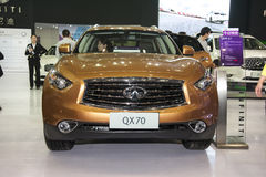 Brown infiniti qx70 car Royalty Free Stock Images