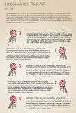 Brown infographcs with targets Royalty Free Stock Photos