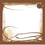 Brown ink border Stock Images