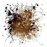 Brown ink splat Stock Image