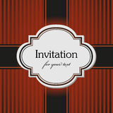Brown invitation Royalty Free Stock Image