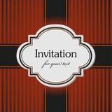 Brown invitation Royalty Free Stock Image