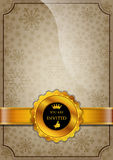 Brown Invitation Design Stock Images