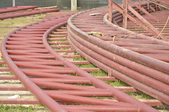 Brown iron curve roof frame storage Royalty Free Stock Photography