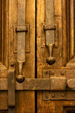Brown iron safety lock Royalty Free Stock Photography
