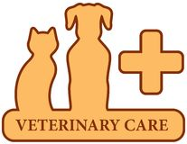 Brown isolated veterinary care symbol Stock Image