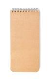 brown isolerad anteckningsbok Arkivbilder