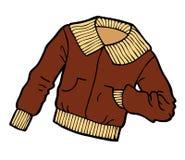 Brown-Jacken-Karikatur Lizenzfreie Stockbilder