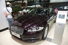 Brown jaguar xj car Royalty Free Stock Photo