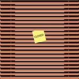 Brown-Jalousies Stockfotografie