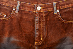 Brown jeans front Royalty Free Stock Photo