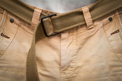 Brown jeans with Gun belt Royalty Free Stock Photography