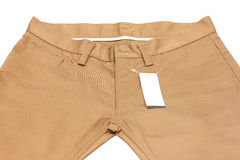 Brown jeans Stock Image