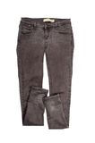Brown jeans pants isolated Stock Photo