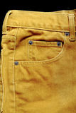 Brown jeans pocket Stock Photography