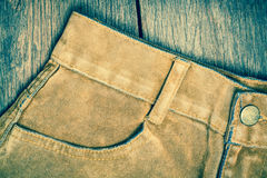 Brown Jeans Stock Photo