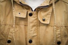 Brown jesieni bawełny jacke Zdjęcie Stock