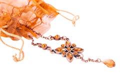Brown jewelery Royalty Free Stock Image