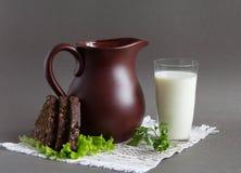 Brown jug. Stock Photo