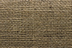 Brown jute natural canvas texture background. Royalty Free Stock Photo