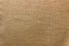 Brown jute natural canvas texture background. Royalty Free Stock Photography