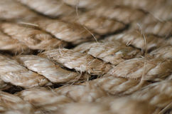 Brown jute rope clise up Stock Images