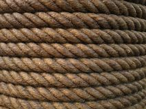 Brown jute rope closeup background texture Royalty Free Stock Image