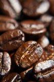 Brown-Kaffeebohnen, Nahaufnahme Stockfotografie