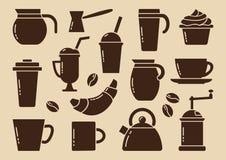 Brown-Kaffeesatz Vektor lizenzfreie abbildung
