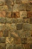 Brown kamienia bloku fortu ściany tekstury antyczny tło Obraz Stock