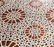 Brown kamienia mozaiki tekstura Zdjęcia Stock
