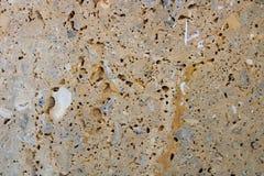 Brown kamienna ściana obrazy stock