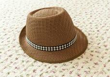 Brown kapelusz fotografia stock