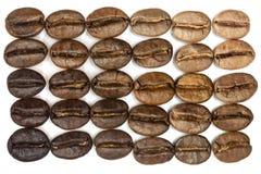 Brown kawowe fasole makro- degradują Fotografia Royalty Free