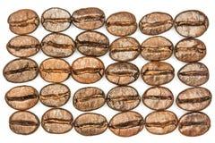 Brown kawowych fasoli makro- tło Zdjęcia Royalty Free