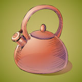 Brown kettle Royalty Free Stock Images