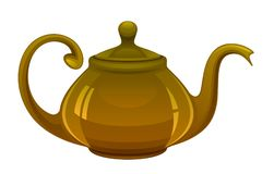 Brown kettle Stock Photography