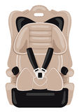 Brown-Kinderautositz Stockfotos