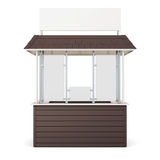 Brown kiosk isolated on a white background. 3d rendering Royalty Free Stock Photos