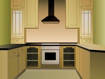 Brown kitchen vector Royalty Free Stock Photo