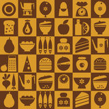 Brown kitchenware seamless Stock Photography
