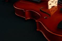 Brown klasyczny skrzypce fotografia royalty free